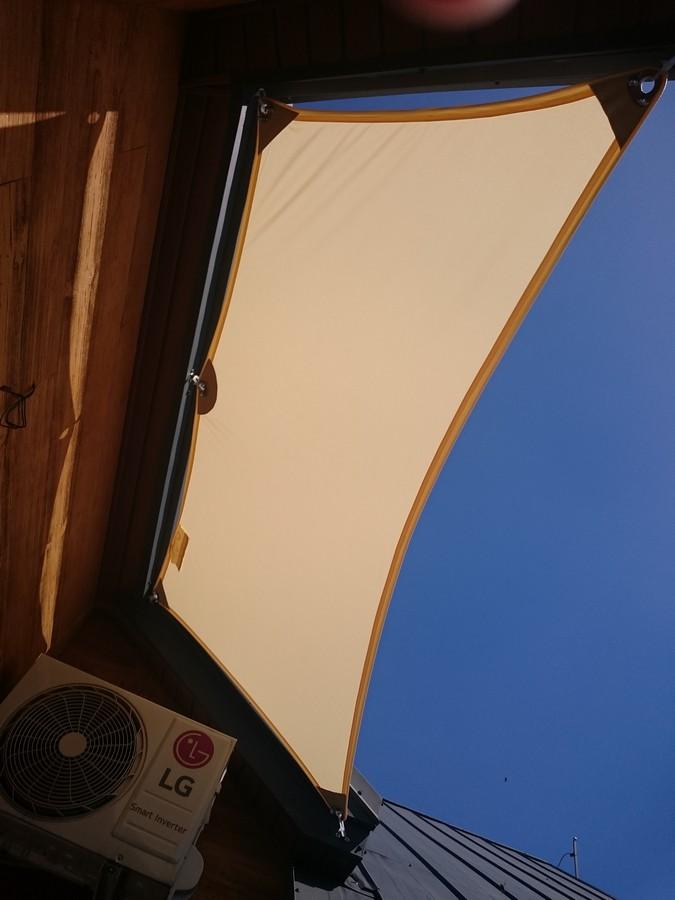 Żagiel przeciwsłoneczny trapezowy - KAMPA Żagle